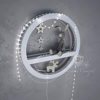 Круглая декоративная полочка. МДФ цветная
