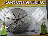 Режущий диск из нержавейки - насадка к измельчителю Еликор, дробилка для яблок (Нержавеющая сталь), фото 1