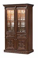 Тоскана Нова витрина 2-х дверная вариант №2 (Скай) 152х227х50