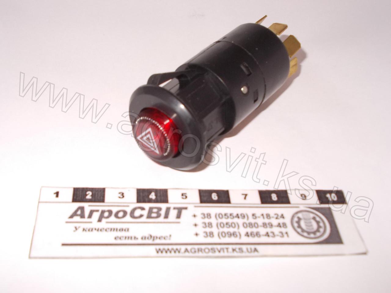 Выключатель аварийной сигнализации 12V (7-и контактный) , 24.3710