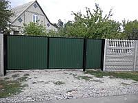 Изготавливаем и устанавливаем ворота и калитки распашные, из металлопрофиля.