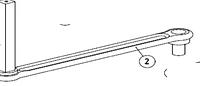Рычаг прямой AN-MOTORS ASW.4002