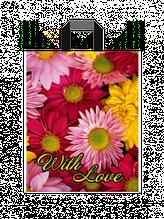 """Пакет з петлевий ручкою маленький """"З Любов'ю"""" (25х30+3)65 мкм 25шт/упаковка"""