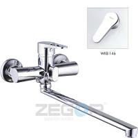 Смеситель для ванны ZEGOR (Troya) PUD7, длинный гусак