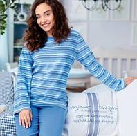 Теплая пижама махровка голубая м643 р44 46 48 50 52 Польша