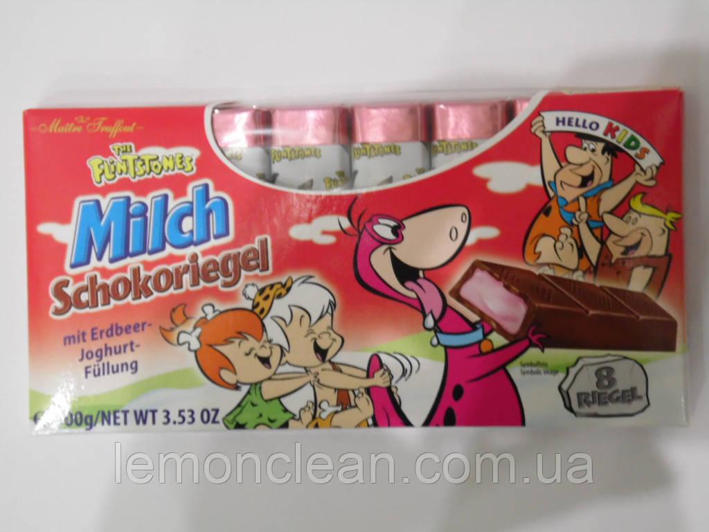 Шоколад Milch Schokoriegel 100г с малиново-йогуртовой начинкой