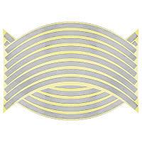 Светоотражающие полосы на диск колеса белая