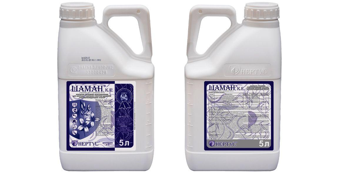 Инсектицид Шаман ( Нурел Д ) хлорпирифос 500 г/л + циперметрина 50 г/л, пшеница, рапс, свекла, яблоня, горох