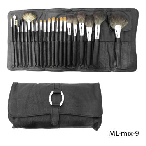 Набор искусственных и натуральных кистей. ML-mix-9_LeD