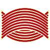 Светоотражающие полосы на диск колеса красные