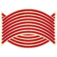 Светоотражающие полосы на диск колеса красные, фото 1