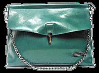 Женская сумка из натуральной кожи Forstmann на плечо зеленого цвета IGF-007551