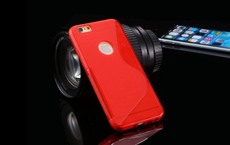 Чехол Iphone 6 / 6S силикон TPU S-LINE красный