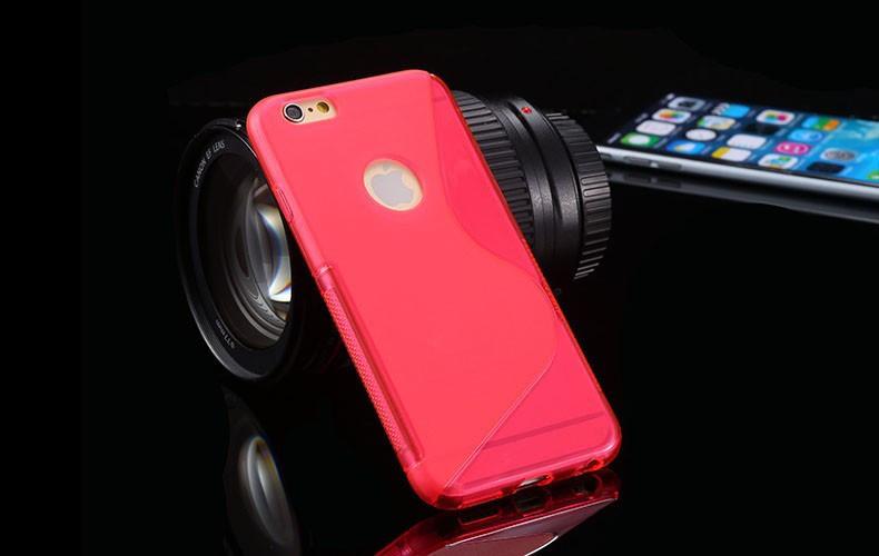 Чехол Iphone 6 / 6S силикон TPU S-LINE розовый