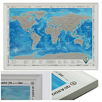 Скретч карта Discovery Map World (англ язык) в раме