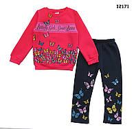 """Теплый костюм """"Бабочки"""" для девочки. 5, 6 лет"""