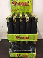 Зажигалки чёрная резина Xfox, пьезовые Оригинал, упаковка 50 штук, ящик 20 упаковок (1000 шт)