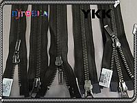 Молния метал YKK 100cm 916 тёмно коричневая 2бегунка ст.никель №5