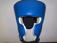 ЛЕВ Шлем кікбоксинг шкіра, червоний, синій
