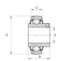 Подшипник CX UC212, YAR212-2F, GYE60KRRB