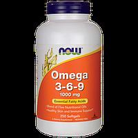 Омега 3-6-9 комплекс для вегетарианцев, Now Foods, 250 капсул