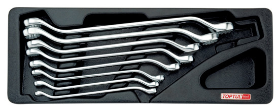 Набор ключей накидных 6-22мм (угол 45°)  8ед. (в ложементе) GAAT0806