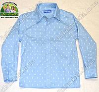 Рубашка для мальчика с длинным рукавом Ромбы