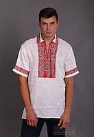 Украинская мужская вышиванка с воротником, фото 1