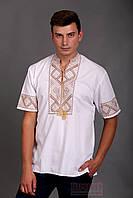 Вышиванка мужская из рубашечной ткани