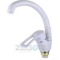 Смеситель для кухни ZEGOR YUB4-A181-KW (белый)