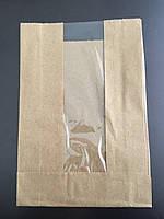 Бумажные пакеты с прозрачным окном 110*40*175