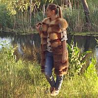 """Меховой жилет из лисы """"Марго"""" длина от 80-100см размеры в наличии и под заказ"""