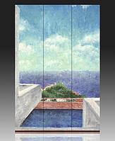 Ширма  Морской пейзаж. Вид с балкона 120х180 см