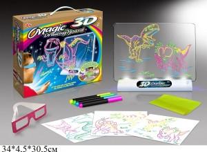 Доска 3D для рисования (с набором батареек для освещения), YM191