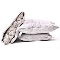 Подушка стеганая со льном 70х70см