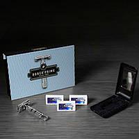 Набор для бритья «Dorco Classic Prime Starter Set» (бритвенный станок, двухсторонние лезвия, дорожный футляр)