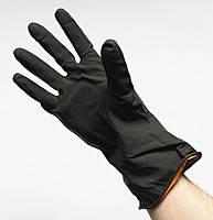 Перчатки кислотные черные резиновые (Industrial Gilan)