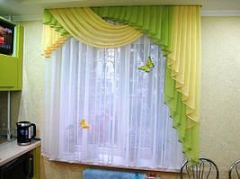 Ламбрекен на небольшое окно или в кухню