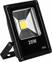 Прожектор плоский светодиодный 20W черный