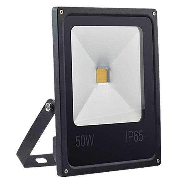Прожектор плоский светодиодный 50W черный тонкий