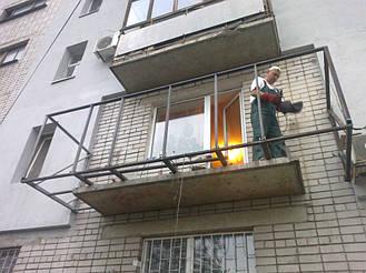 Балкон с выносом в 9 этажном и 5 этажном доме на 30-40 см  7