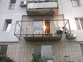 Балкон с выносом в 9 этажном и 5 этажном доме на 30-40 см  8