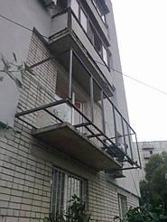 Балкон с выносом в 9 этажном и 5 этажном доме на 30-40 см