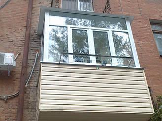 Балкон с выносом в 9 этажном и 5 этажном доме на 30-40 см  17