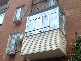 Балкон с выносом в 9 этажном и 5 этажном доме на 30-40 см  18