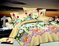 """Комплект постельного белья двуспальный, ранфорс, 3D """"Окно в оазис"""""""