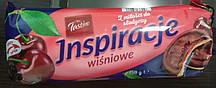 Печиво Tastino Inspiracje Wisniowe (з вишневим мармеладом в молочному шоколаді) 150 р. Польща