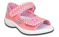 Детские польские босоножки для девочек с кожаной ортопед стелькой р.23-28 MB Rzepka 3SA22/2В розовые