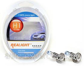 "Автомобильные галогенные лампы ""Realight"" (H1)(+100%)(12V)(55W)"