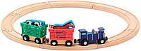 Деревянный Поезд с животными